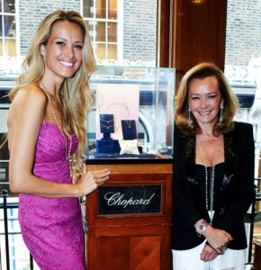 Happy Hearts Fund Founder and Chairperson Petra Nemcova and Chopard Co-President and Artistic Director Caroline Scheufele