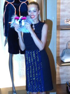 Petra wearing Fendi at the Avenue Montaigne Fendi Store, Paris
