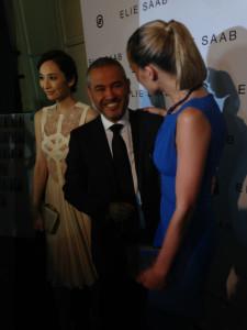 Petra Nemcova congratulates Elie Saab after a stunning show